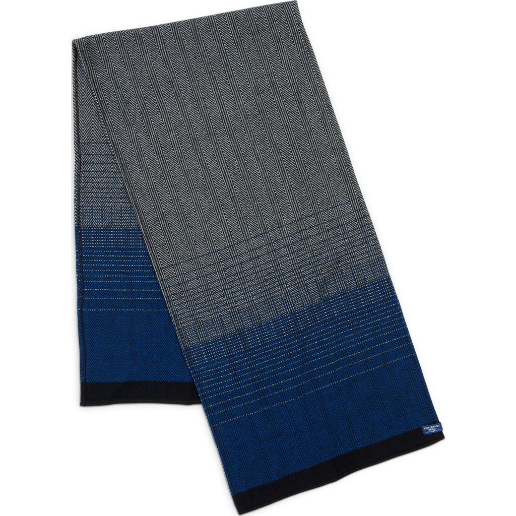 Faribault Eagan Herringbone Wool Scarf | Royal Blue