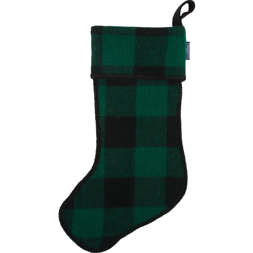 Faribault  Buffalo Check Stocking | Green/Black - BABCGN1515