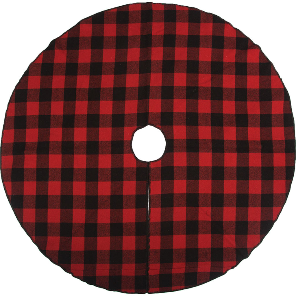 Faribault  Buffalo Check Tree Skirt | Red/Black- BABCRD1461