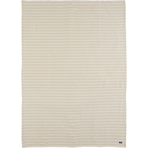 Faribault Cotton Beacon Throw | Stripe Beige BTBEBG1228