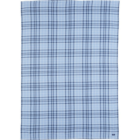 Faribault Cotton Hatchet Throw | Plaid Blue BTHPBL1006