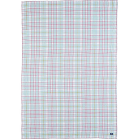 Faribault Cotton Hatchet Throw | Plaid Seafoam BTHPLB1013