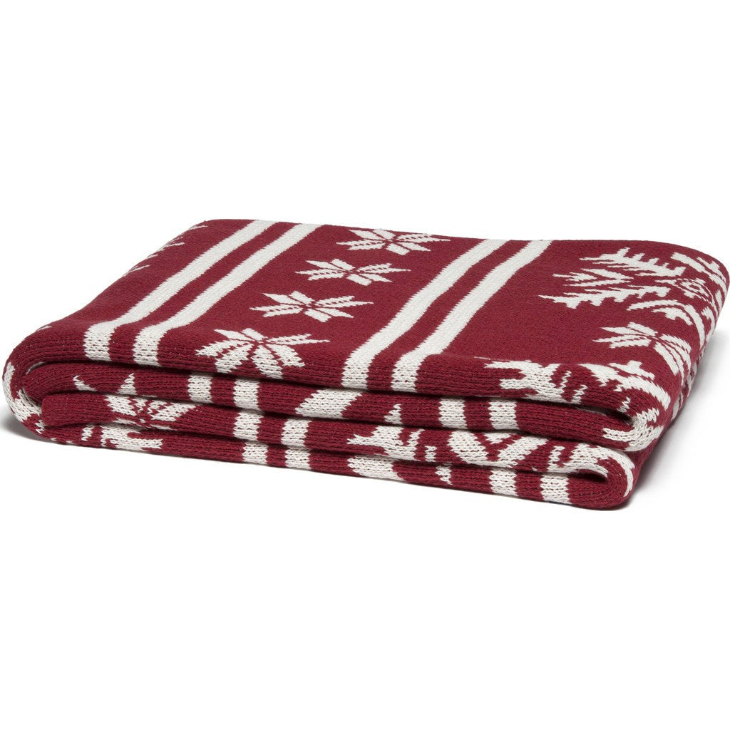 in2green Fair Isle Eco Throw | Pomegranate Bl01FA1