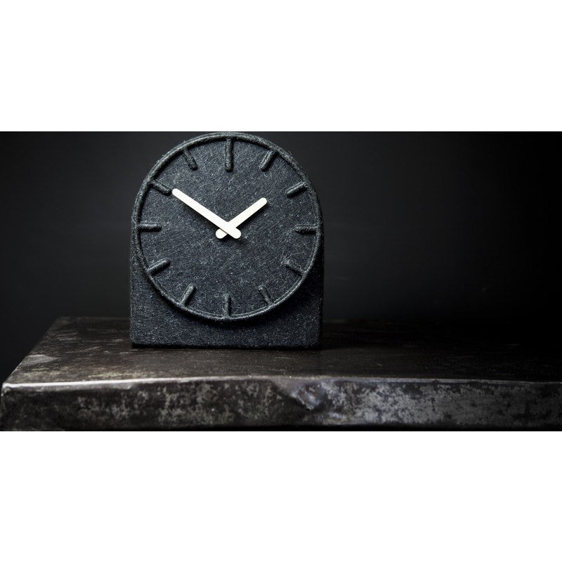 LEFF Amsterdam Felt Table Clock | Black/Brass