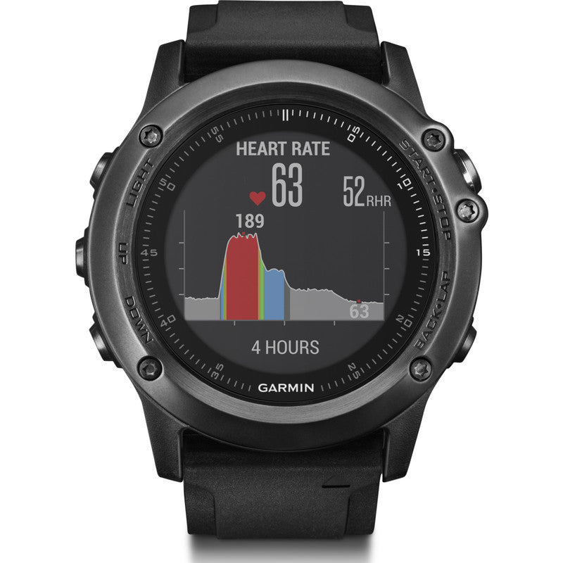 Garmin Fenix 3 HR Multi-Sport GPS Watch | Black 010-01338-70