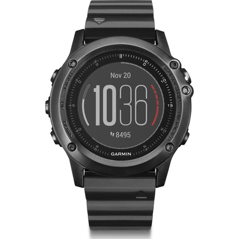 Garmin Fenix 3 HR Sapphire GPS Watch | Stainless Steel 010-01338-7C