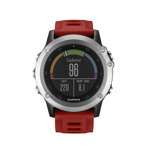 Garmin Fenix 3 Multi-Sport GPS Watch | Silver/Red