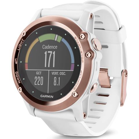 Garmin Fenix 3 Sapphire Multi-Sport GPS Watch | Rose Gold/White Band