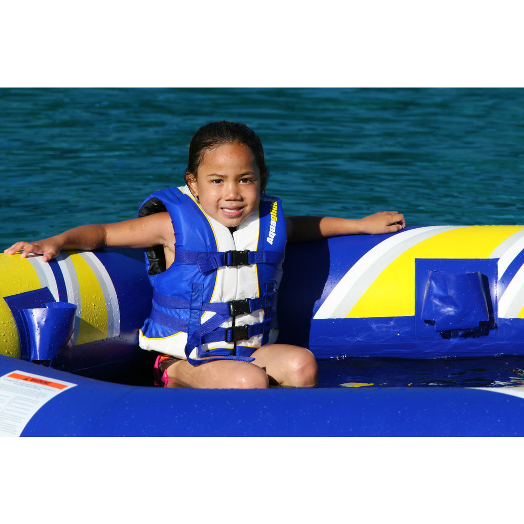 Aquaglide Fiesta Inflatable Swim Platform | Yellow/Blue/Black 58-5216640