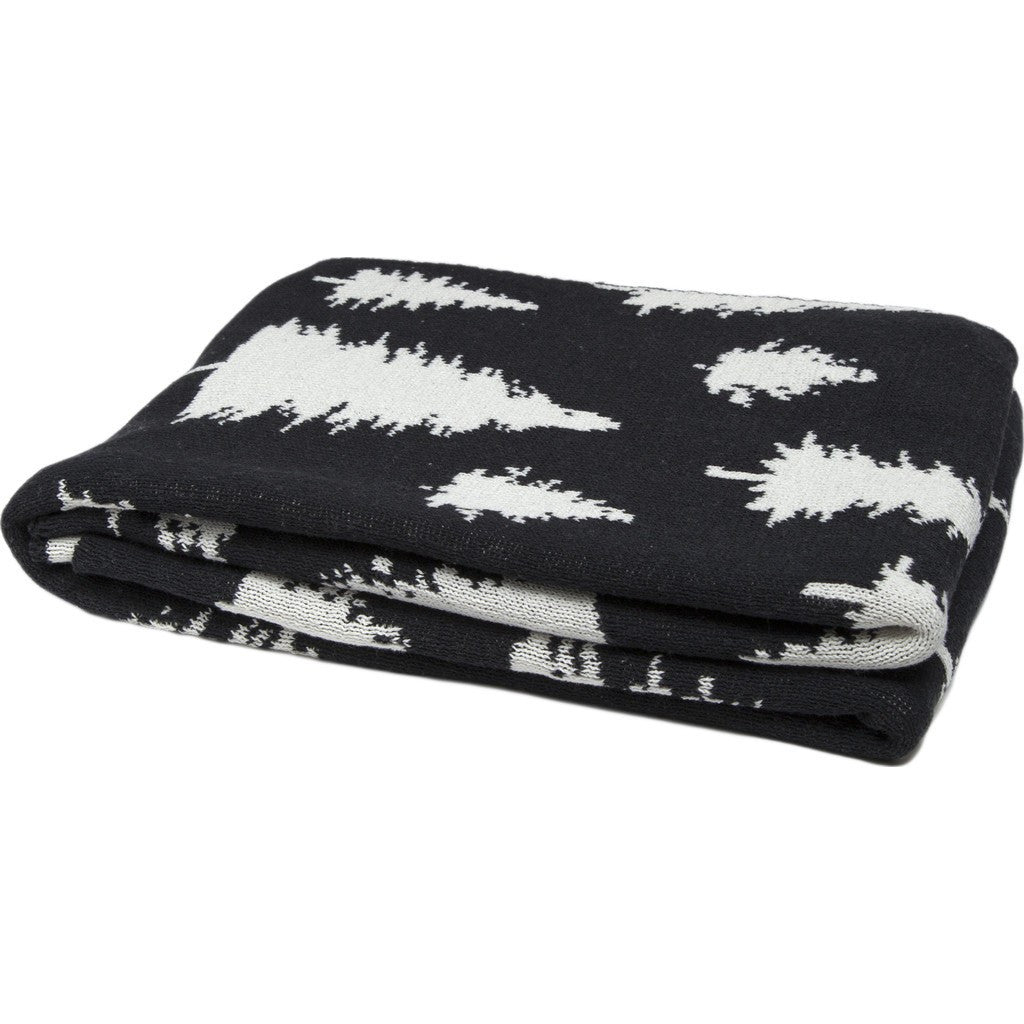 in2green Fir Trees Reversible Eco Throw | Black BL02RFT1