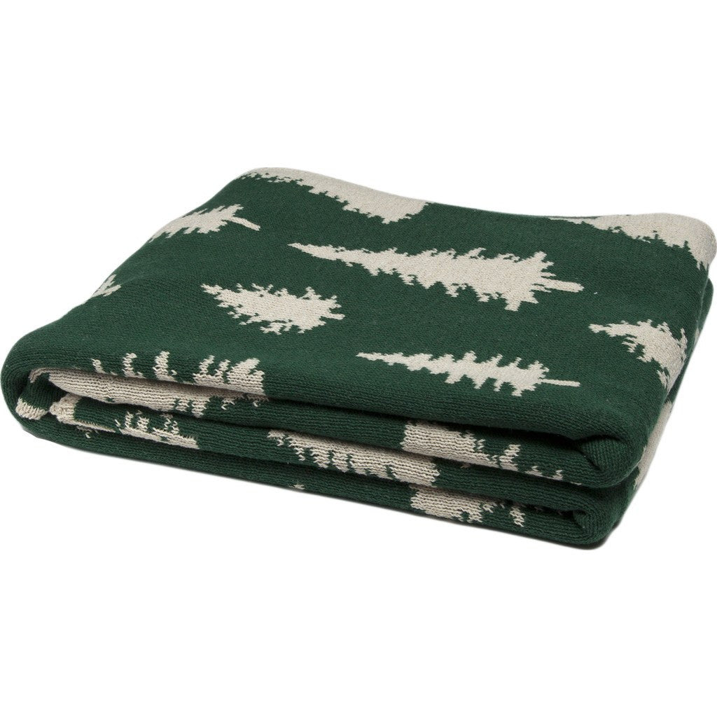 in2green Fir Trees Reversible Eco Throw | Hunter BL02RFT3