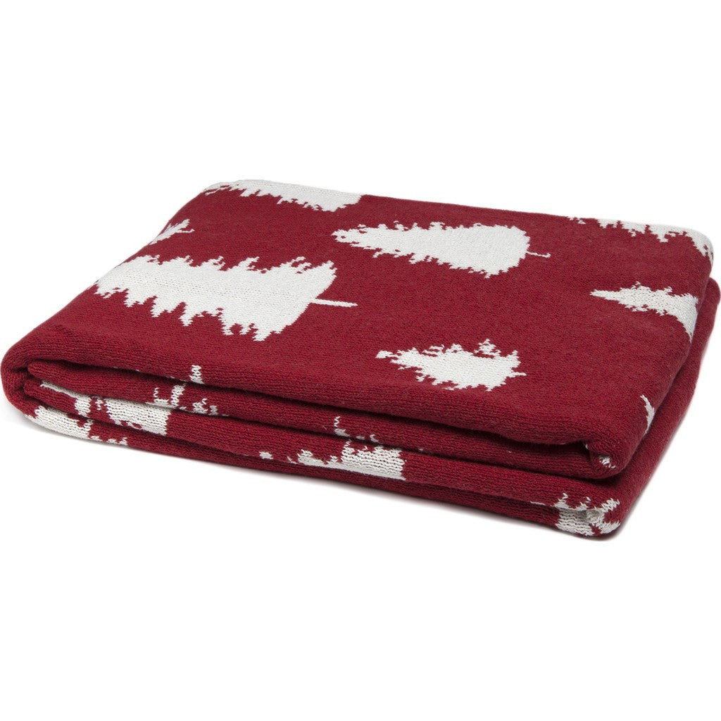 in2green Fir Trees Reversible Eco Throw | Pomegranate BL02RFT2