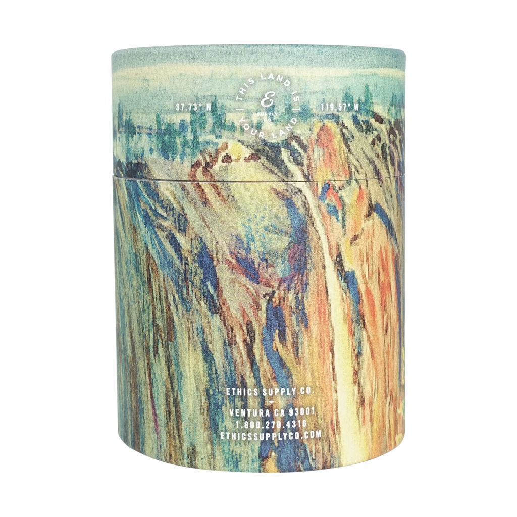 Ethics Supply Co. Organic Scented Candle | Yosemite's Firefall NPCA-02