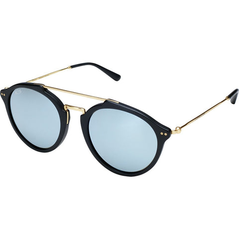 Kapten & Son Fitzroy Blue Mirrored Sunglasses | Matte Black
