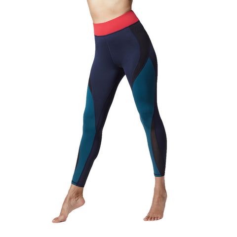 Michi Flare Legging | Blue Flame