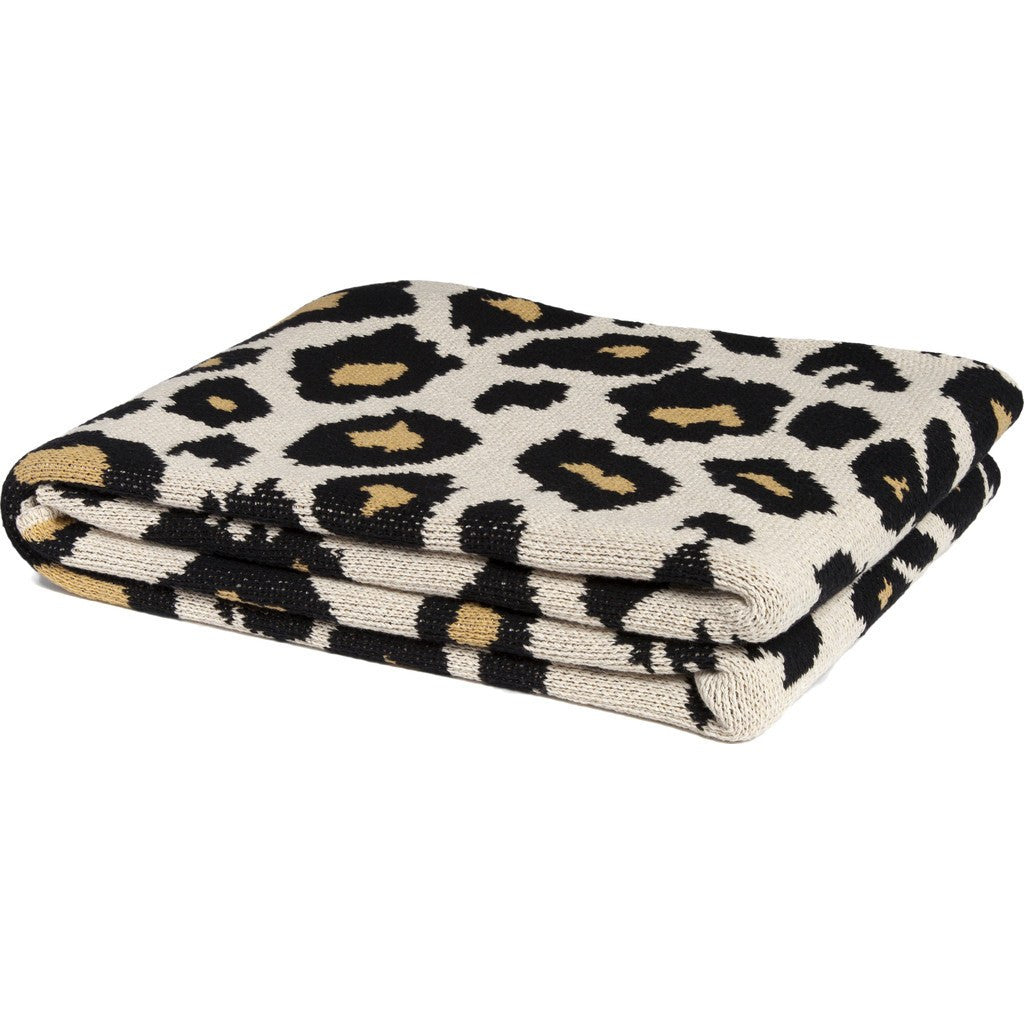 in2green Cheetah Eco Throw | Black/Straw/Flax Eco BL01CHE2