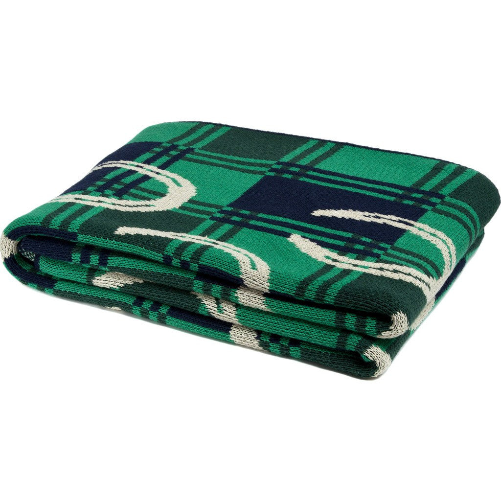 in2green Horse Shoe Eco Throw | Emerald/Hunter/Marine/Flax BL01HS5