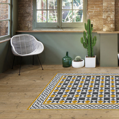 Hidraulik Avinyo Medium Rug | Yellow- CC1601
