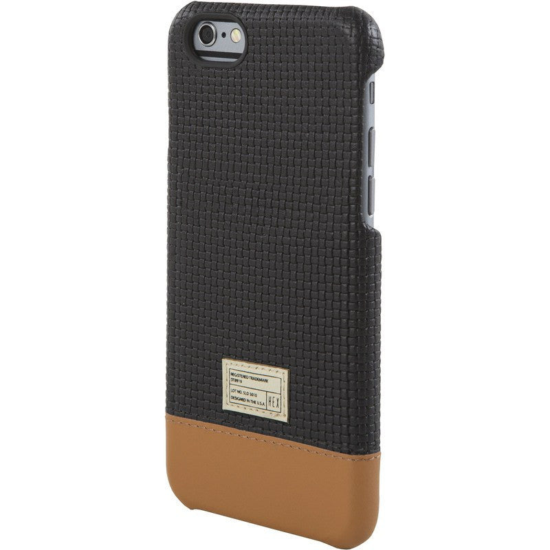 Hex Focus Case for iPhone 6 Black Woven Leather | HX1752 BKWV