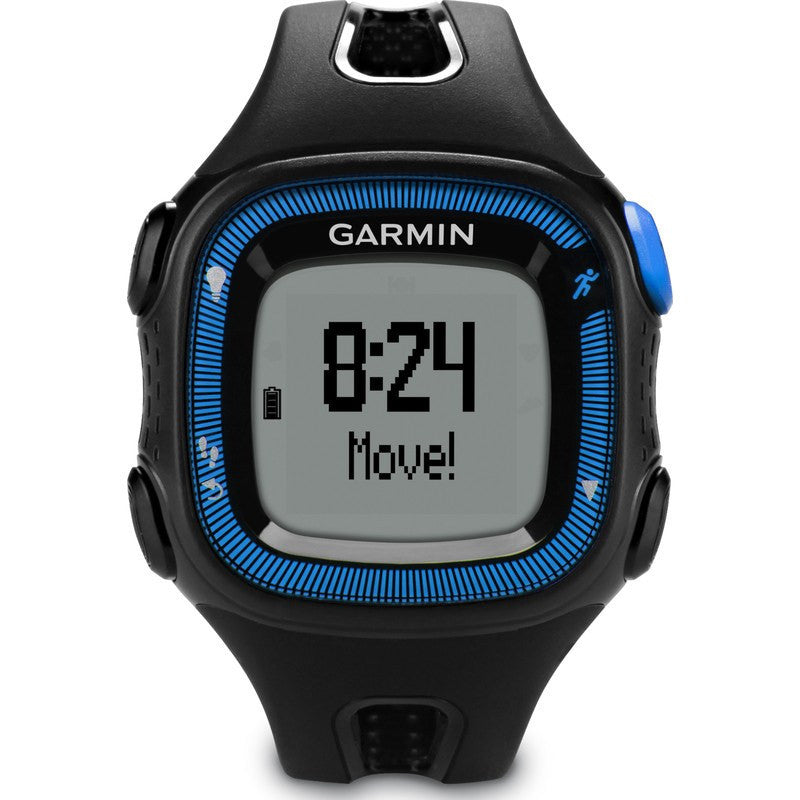 Garmin Forerunner 15 GPS Watch Bundle | Large Black/Blue