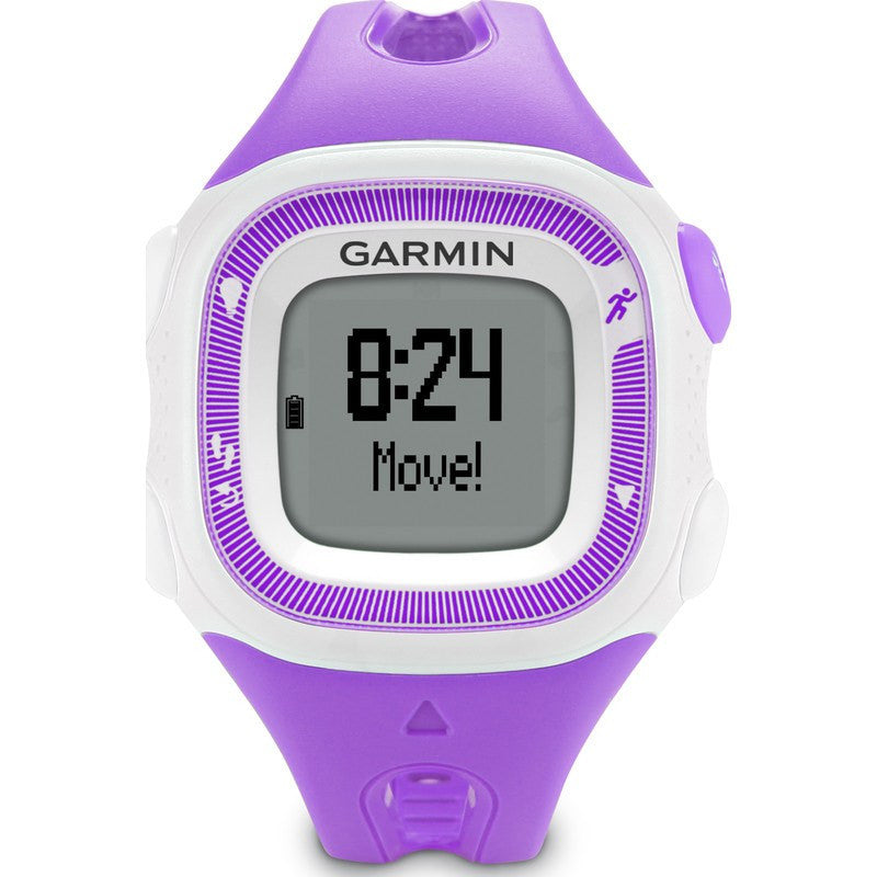 Garmin Forerunner 15 GPS Watch Bundle | Small Violet/White