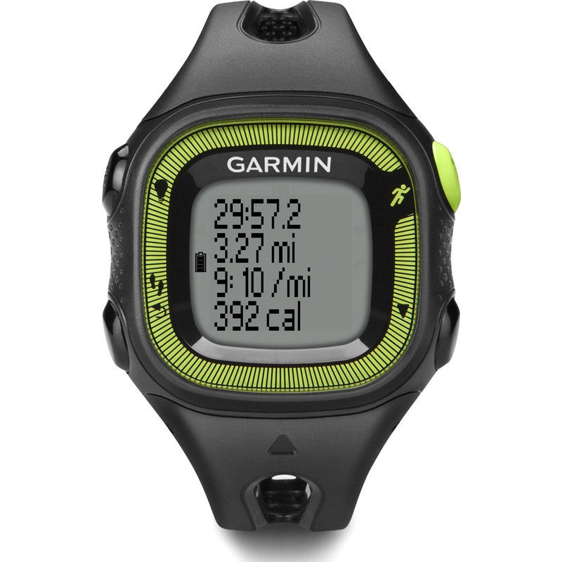 Garmin Forerunner 15 GPS Watch Bundle | Small Black/Green
