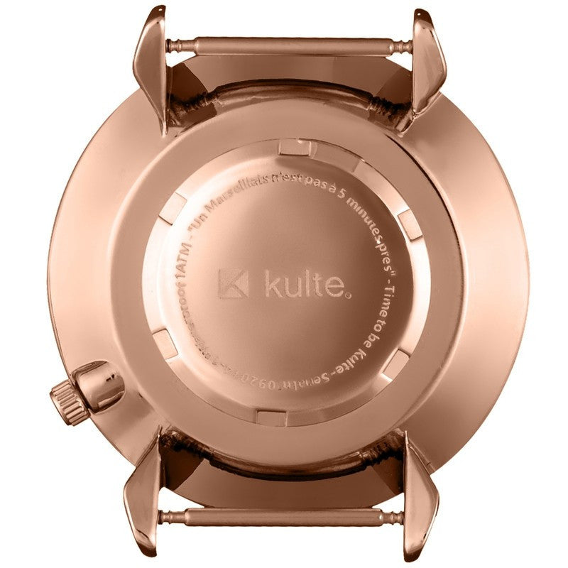 Kulte Forever Young Rose Gold Watch | Black Nylon KUL01