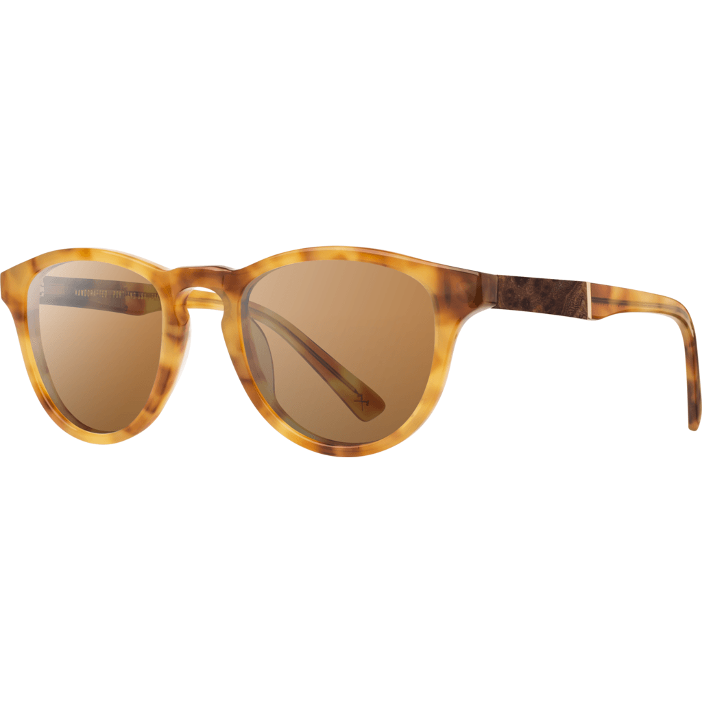 Shwood Francis Acetate Sunglasses | Amber & Elm / Brown WAFAELB