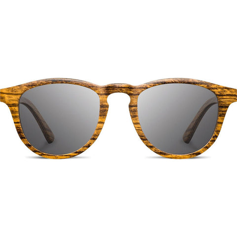 Shwood Francis Wood Sunglasses | Zebrawood - Grey Polarized WOFZGP