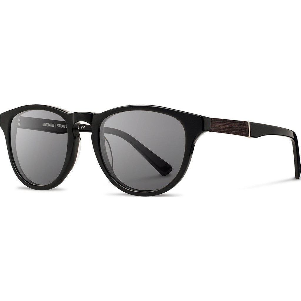 Shwood Francis Acetate Sunglasses | Black & Ebony / Grey Polarized WAFBEGP
