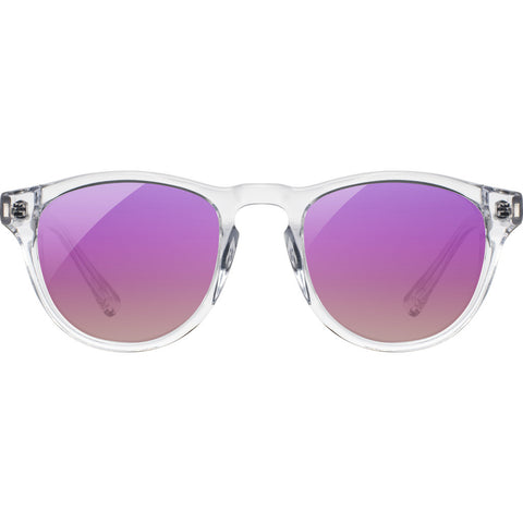 Shwood x Shaper Studios Francis Surf Resin Sunglasses | Crystal & Sunset- Rose Flash Polarized-WAFC2SSRR3P