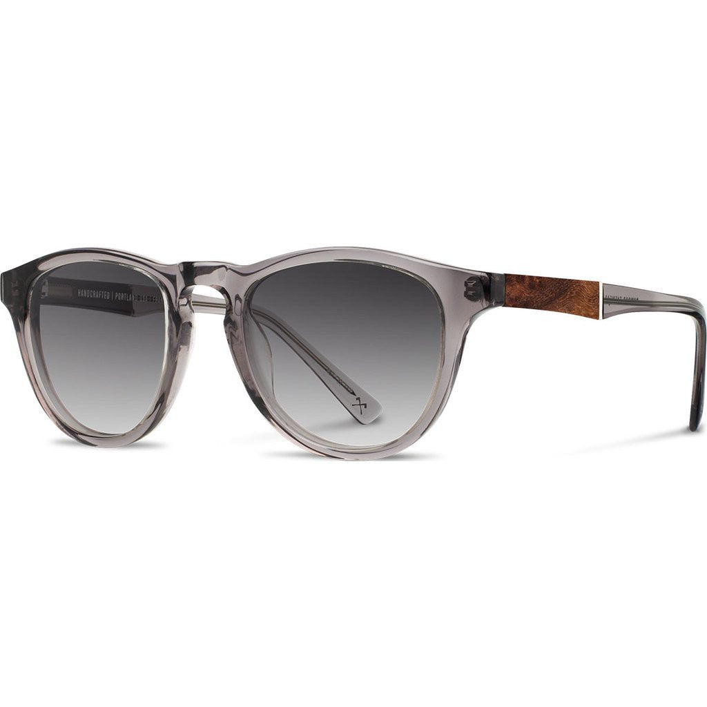 Shwood Francis Acetate Sunglasses | Smoke & Elm Burl / Grey Fade Polarized