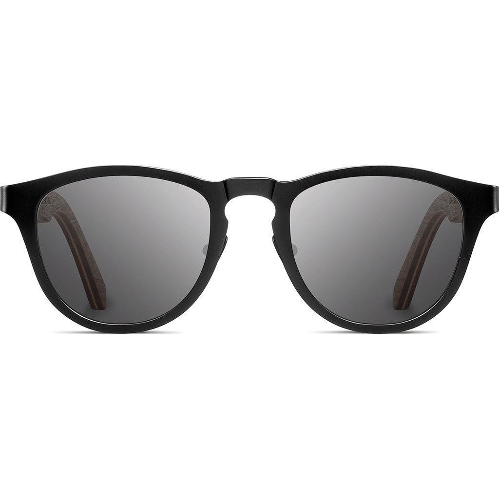 Shwood Francis Titanium Sunglasses | Black & Walnut / Grey WTFBWFP