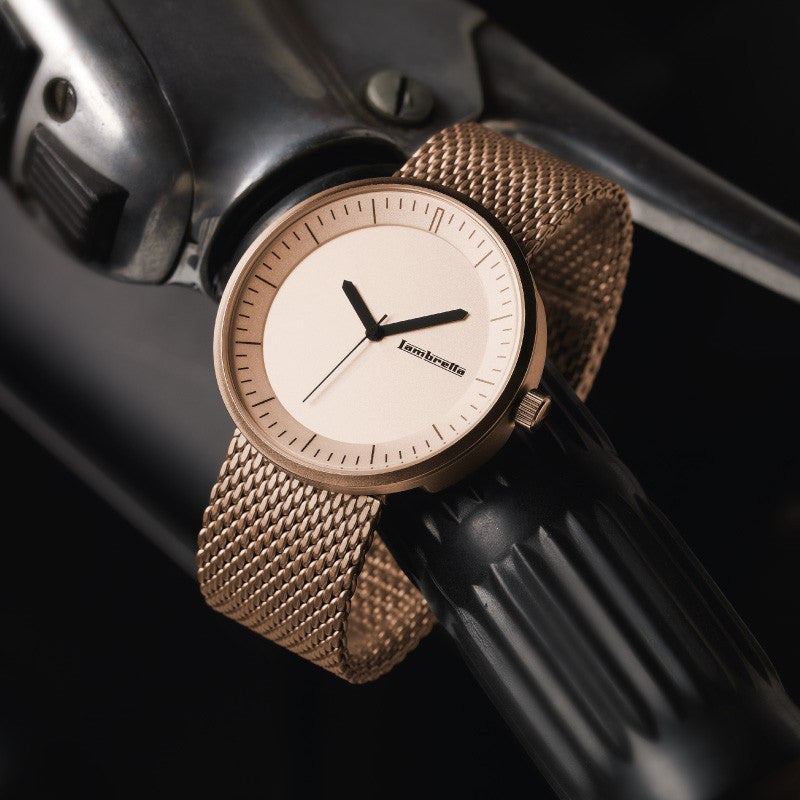 Lambretta Franco Watch | Mesh Rose Gold 2165ROS