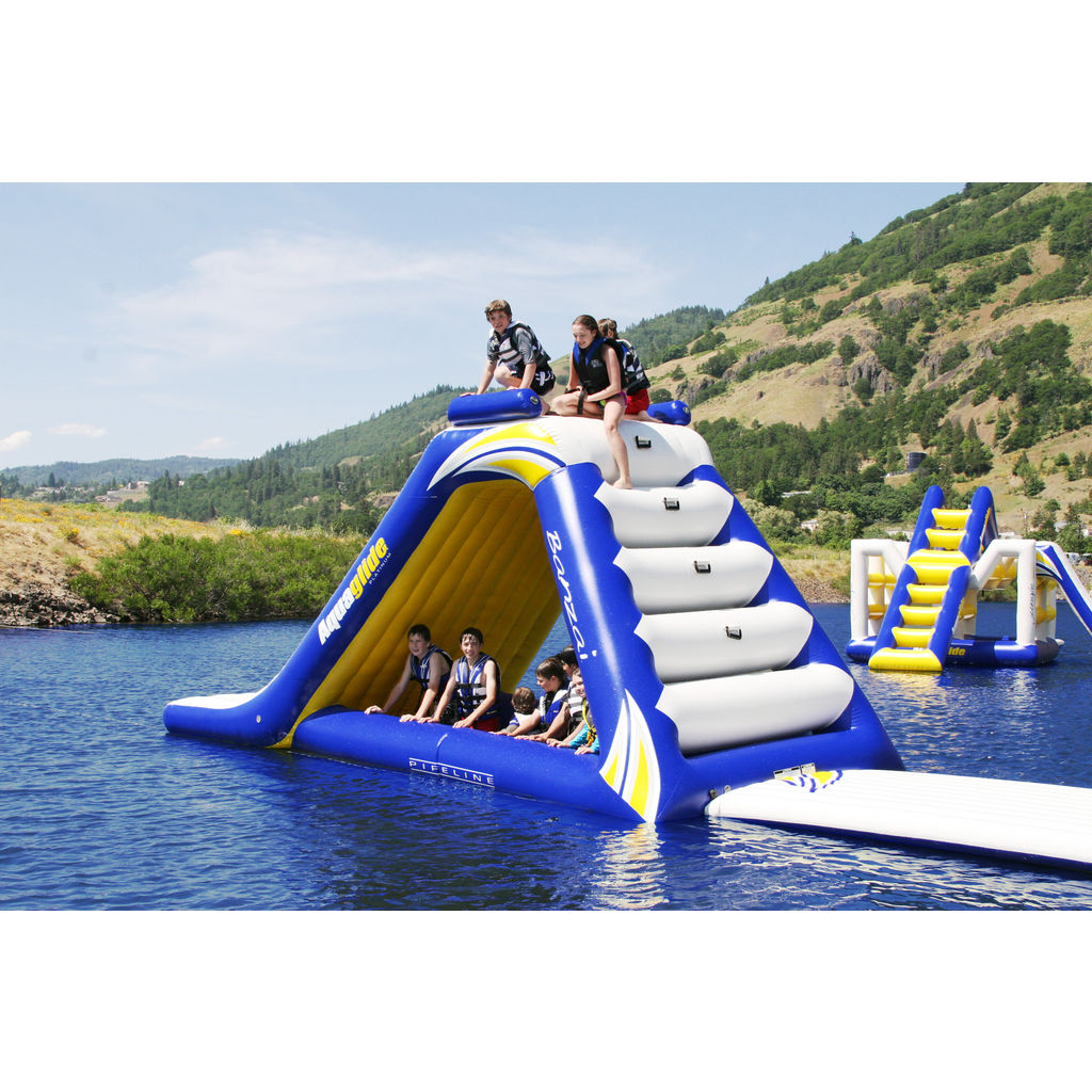 Aquaglide Freefall Extreme Inflatable Water Slide Blue