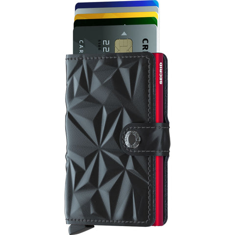 Secrid Mini Wallet | Black M-Prism Black-Red