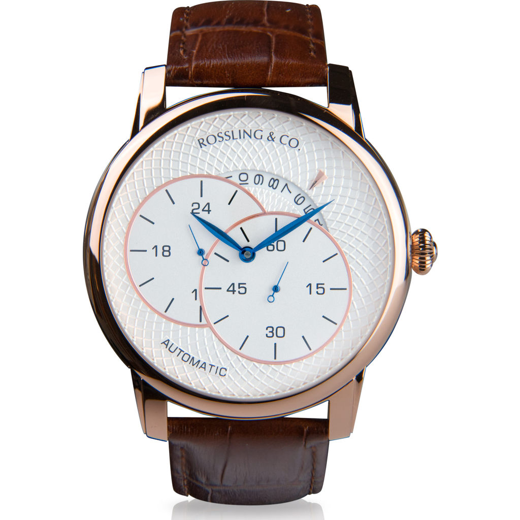Rossling & Co. Strasse Automatic Watch |  Rose Gold/White