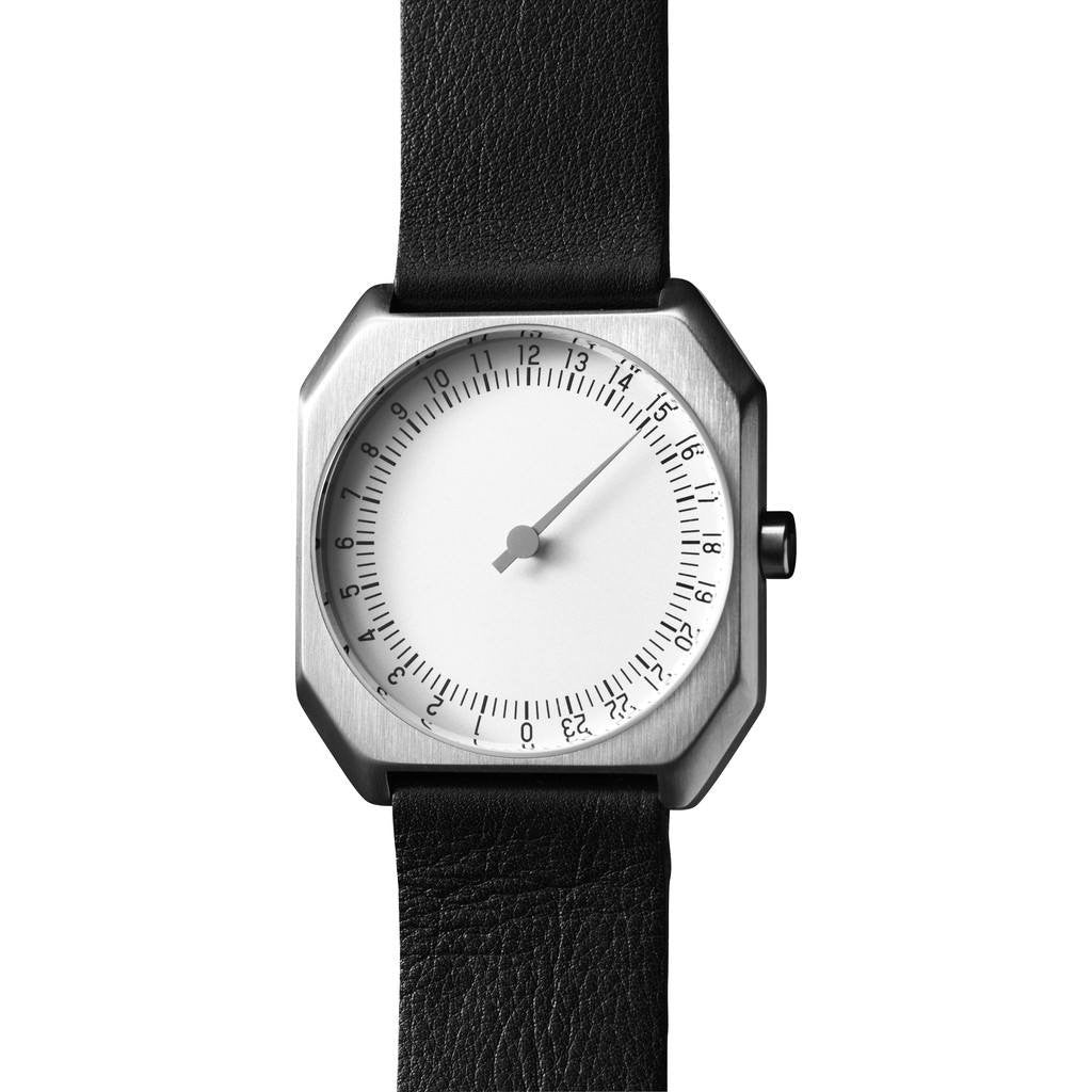 slow Jo 05 Silver Watch | Black Leather X000FGLSF2