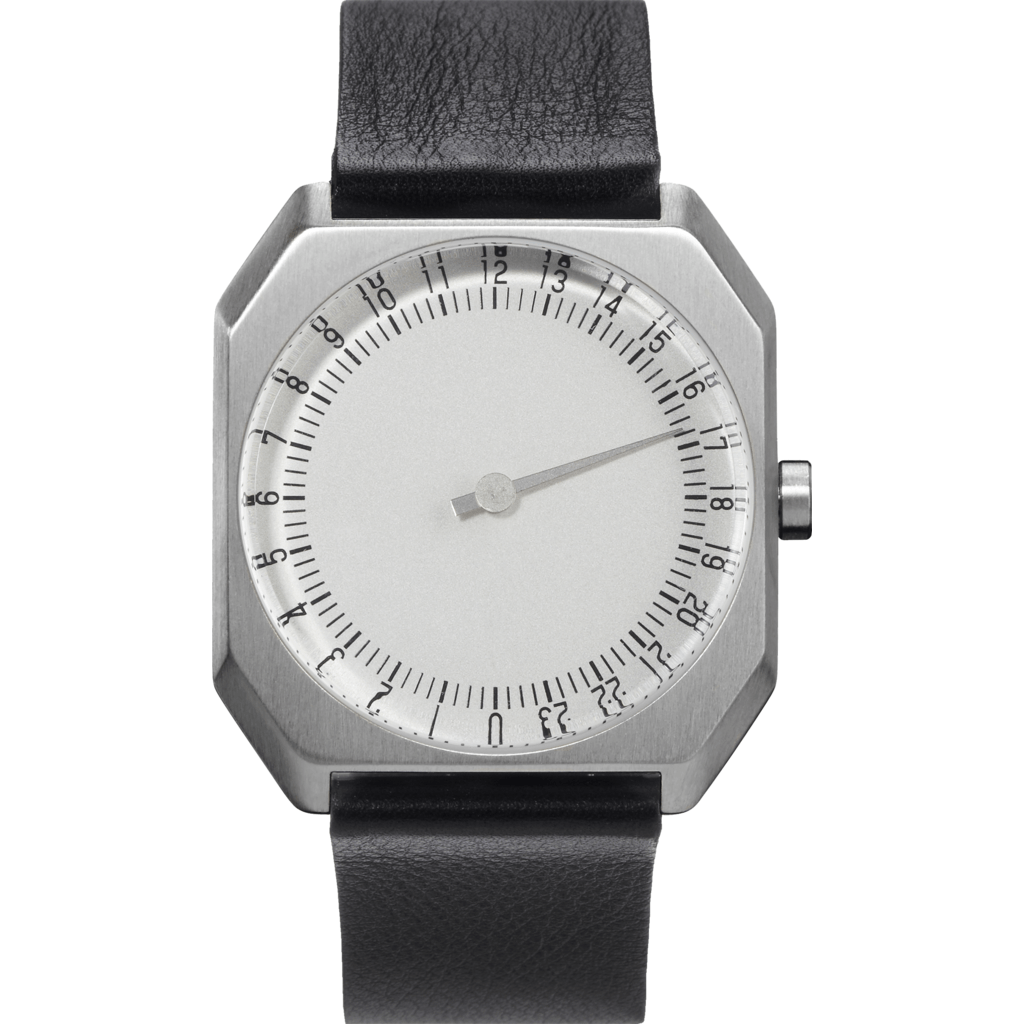 slow Jo 05 Silver Watch | Black Leather X000FGLSF3