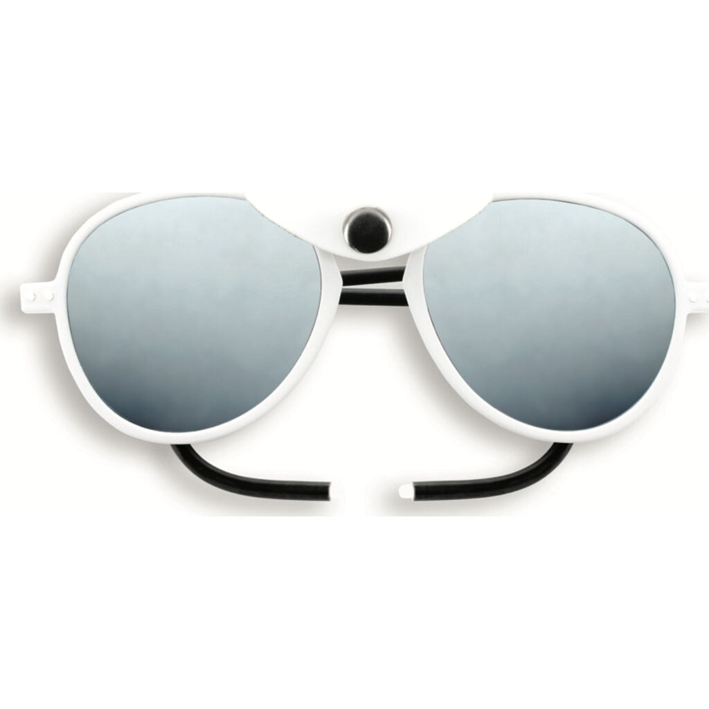 Izipizi Glacier Plus Sunglasses | White with White Shields