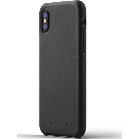 Mujjo Leather Case for iPhone X | Black MUJJO-CS-095-BK