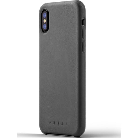 Mujjo Leather Case for iPhone X | Gray MUJJO-CS-095-GY