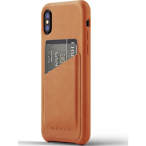 Mujjo Leather Wallet Case for iPhone X | Tan MUJJO-CS-092-TN