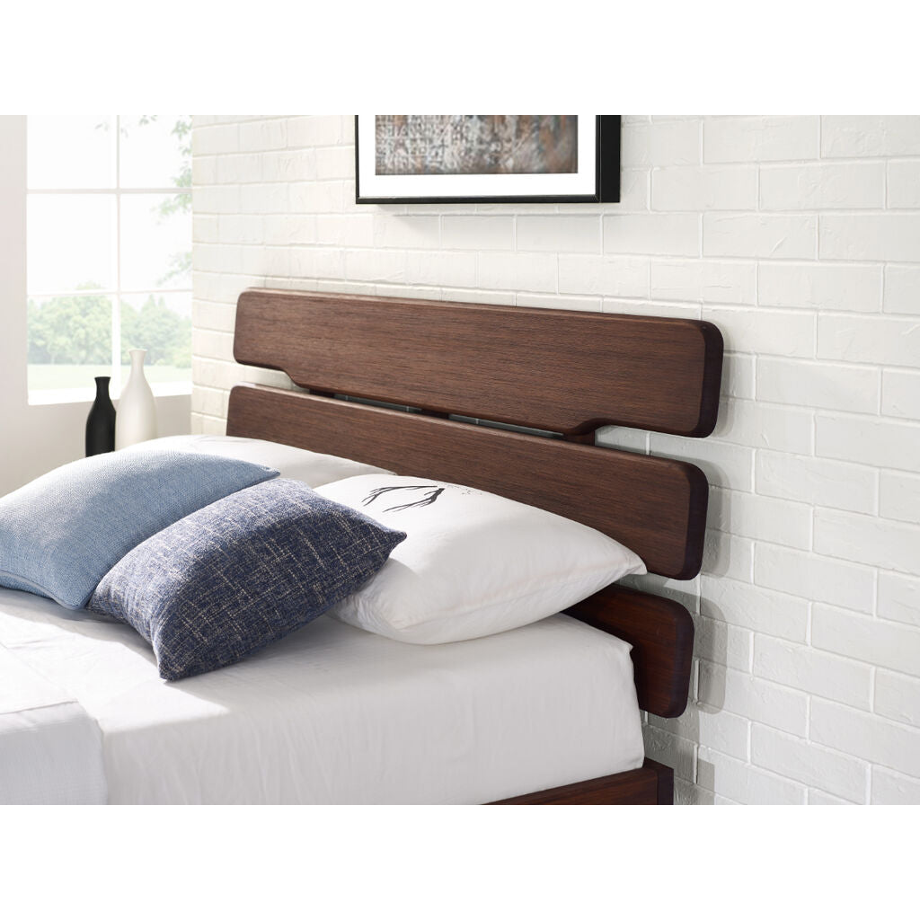 Currant Queen Platform Bed - Oiled Walnut