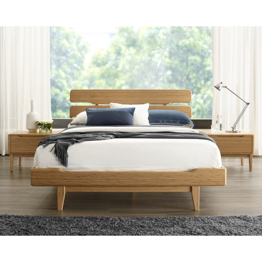 Currant California King Platform Bed - Oiled Walnut