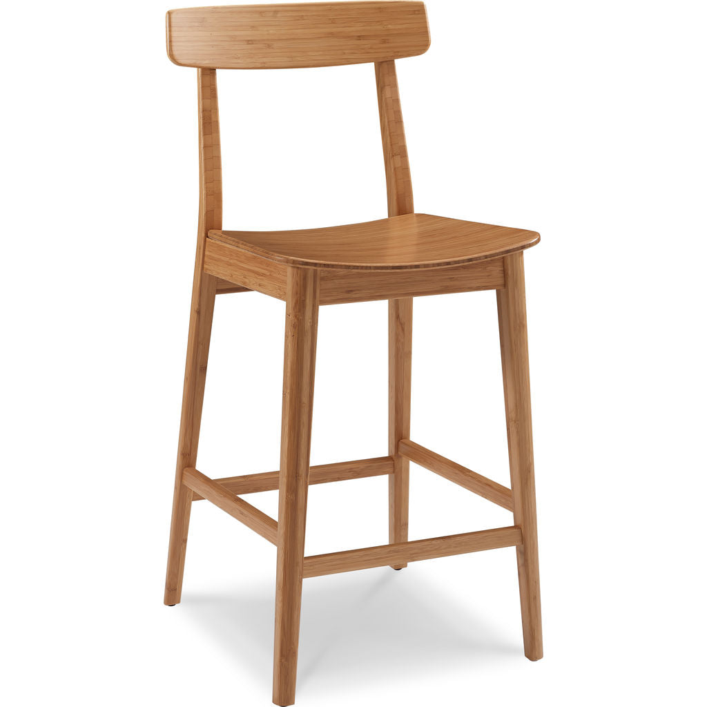 Greenington Currant Height Stool With Back (Set of 2) | Caramelized
