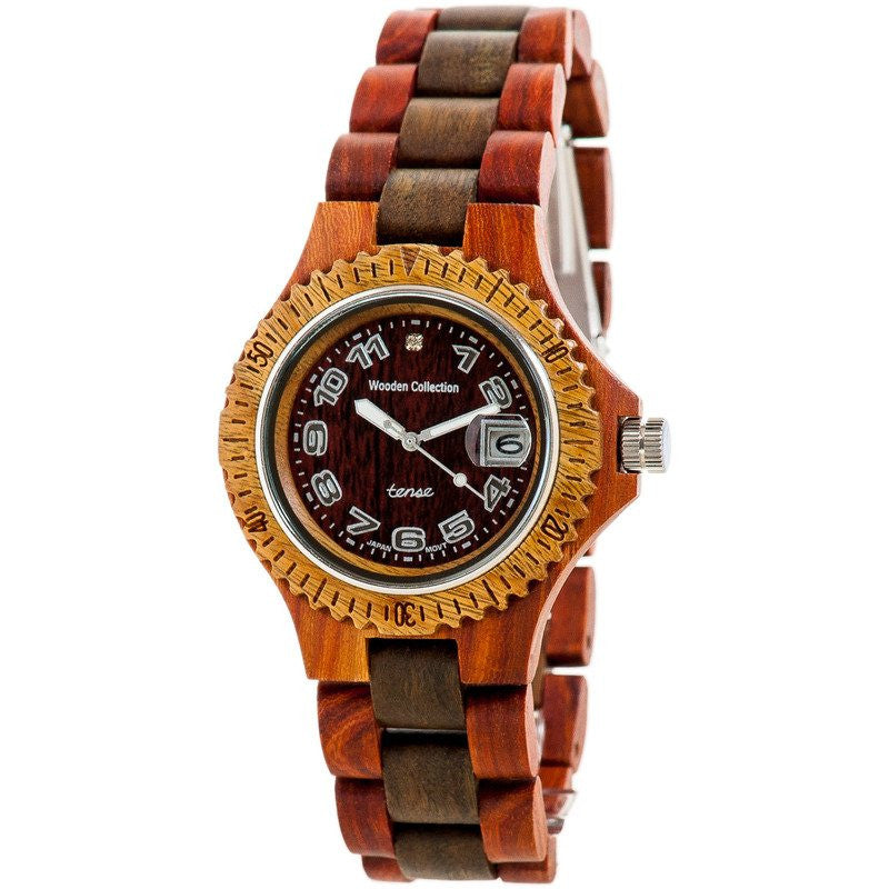 Tense Mini Compass Discovery Women's Watch Sandalwood/Green | L4100SG