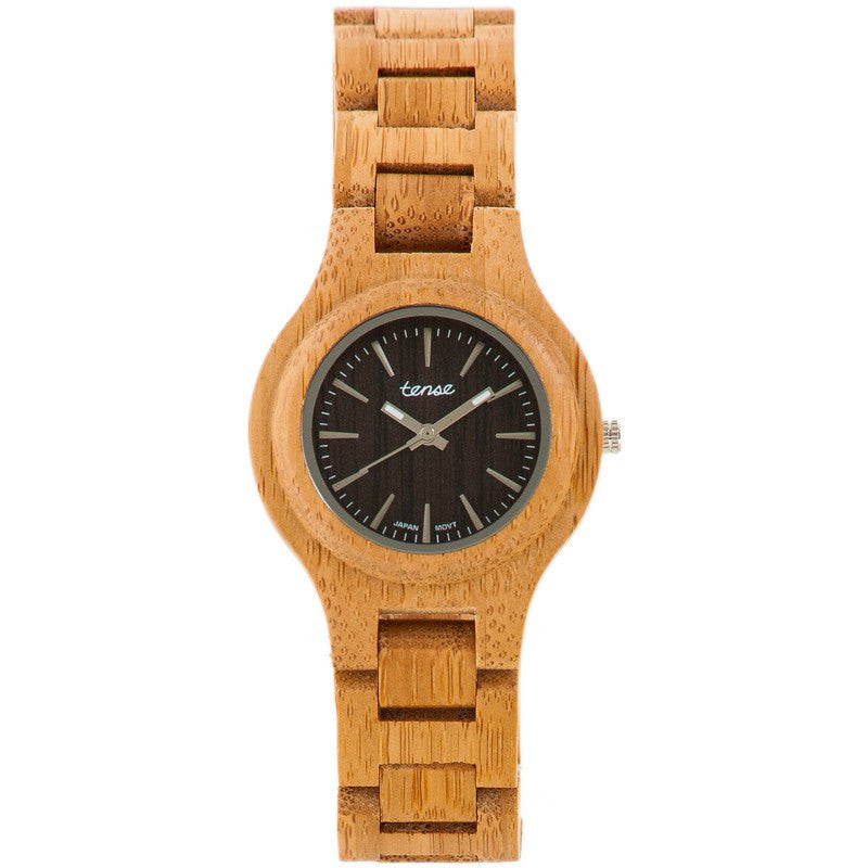 Tense Pacific Coastal Men's Watch Bamboo | G7509B-W