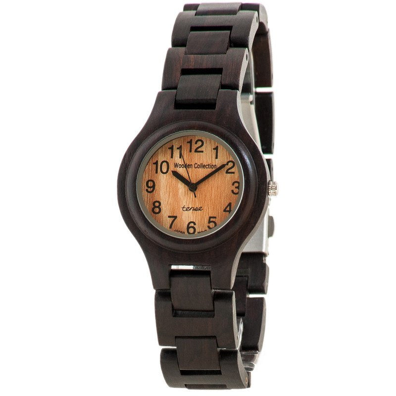 Tense Pacific Coastal Men's Watch Dark Sandalwood | G7509D