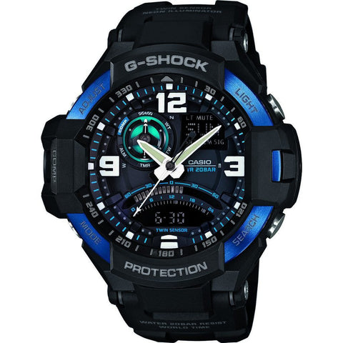 Casio G-Shock G-Aviation Master of Gravity Watch | Black GA-1000-2B